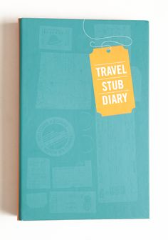 "Travel Stub Diary 14.99 at shopruche.com. Hold on to cherished memories with this charming travel diary, a delightful way for organizing all of your travel memorabilia. Featuring pages with clear sleeves for holding ticket stubs, maps, and brochures and margins for writing all of your special memories.Hardcover, 6.5"" x..."