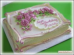🍓🍓🍓 Buttercream Decorating, Buttercream Wedding Cake, Birthday Sheet Cakes, Happy Birthday Cakes, Cake Decorating Techniques, Cake Decorating Tips, Bolo Russo, Funeral Cake, Cake Icing Tips