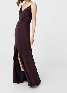 Mango Outlet Cut-out silk dress