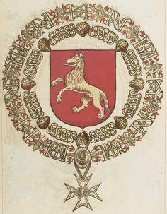 Tout sur l'héraldique : dessin de blasons et d'armoiries: Armorial du Saint-Esprit : Jacques de LOUBENS