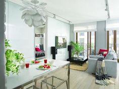 Estilo contemporáneo para una casa en blanco y rojo