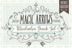 Magic Arrow Brushes (Illustrator) by The Pen & Brush on @creativemarket