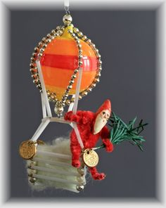 "Antique glass Christmas ""gablonz ornament"", Germany c.1920"