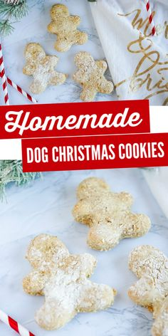 Homemade Christmas Cookie Dog Treats Recipe for your fur babies! DIY Christmas Cookies for Dogs with these Gingerbread Men Oat Dog Treats with Cinnamon! Dog Christmas Cookie Recipe, Christmas Dog, Homemade Christmas, Christmas Treats, Christmas Cookies, Baby Carrot Recipes, Dog Treat Recipes, Dog Food Recipes, Homemade Dog Treats