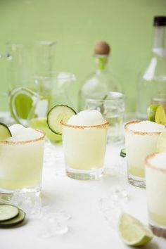Spicy Honeydew Cucumber Margaritas