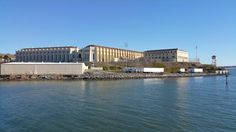 A beautiful shot of our local prison, San Quentin. I always found it sad that they get to watch the ferries filled with happy riders ride by them every day. I could see them in the yard playing basketball.