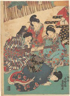 Utagawa Kunisada  (Japanese, 1786–1864)  Period: Edo period (1615–1868) Culture: Japan Medium: Polychrome woodblock print; ink and color on paper  http://stores.ebay.ca/allssgood