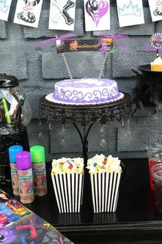 Disney's Descendants movie night party desserts! See more party ideas at CatchMyParty.com!