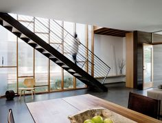push pull house interior staircase