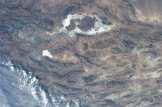Tashk and Bakhtegan Lakes, Iran. Taken August 14, 2013.   KN from space.