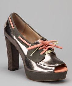Take a look at this Dark Gray Norwyn Pump by Rachel Rachel Roy on #zulily today!
