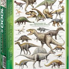 1000 Piece Dinosaurs of The Cretaceous Puzzle  $17.99 Description •Box size: 10″ x 14″ x 2.37″. Finished Puzzle Size: 19.25″ x 26.5″. •The Cretaceous period (144-65 million years ago) may have seen more dinosaurs than ever before. Over 20 of the most fascinating creatures are illustrated, such as giganotosaurus, tyrannosaurus and triceratops. •Strong high-quality puzzle pieces. •Made from recycled board and printed with vegetable based ink. •This superior quality puzzle will delight and…