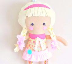 18 inch Rag Doll Toy Plush Dolls and Daydreams by PlatoSquirrel, $65.00