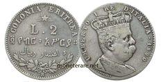 2 lire rare Umberto I Eritrea Lus, Coins, Personalized Items, Italian Lira, Rooms