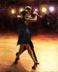 "Connection— original oil tango dance romantic painting by Christopher Clark fine artist, #christopherclarkart <span class=""edit-link btn btn-inverse btn-mini""><a class=""post-edit-link"" href=""http://www.christopherclark.com/wp-admin/post.php?post=7421&action=edit"" title=""Edit"">Edit</a></span>"