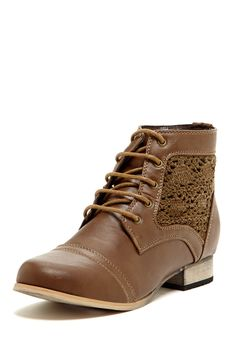 Crochet Side Lace-Up Bootie on HauteLook