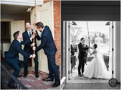 Looks like these groomsmen are having a blast ringing the Martha Mary Chapel's bell