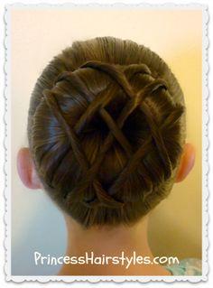 Hot cross bun - Dance hairstyle