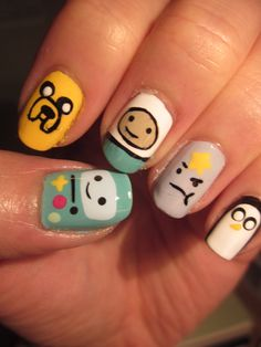 My Adventure Time nails! - Imgur