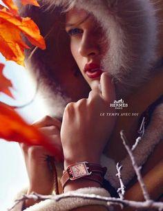 "Hermes: ""Hat"" Print Ad by Publicis Etnous Paris Bette Franke, Hermes Watch, Hermes Orange, Great Ads, Advertising Photography, Unique Fashion, Fashion Watches, Passion For Fashion, Editorial Fashion"