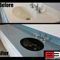 Check out our Latest Countertop Refinish & Recolor job by our Master Refinisher Bathtub Repair, Bathtub Refinishing, Mount Pleasant Texas, Tyler Tx, Kitchen And Bath, Building Design, Decorating Your Home, Countertops, Sink