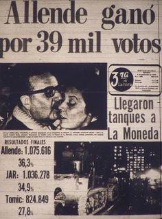 Noticias - Salvador Allende gana elecciones en Chile Protest Posters, Fidel Castro, Latin America, Cold War, Cuba, Nostalgia, Pictures, Google, Blog