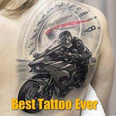 se sentir - Art and Tattoos - Car Tattoos, Biker Tattoos, Motorcycle Tattoos, Neue Tattoos, Badass Tattoos, Sleeve Tattoos, Tattoos For Guys, Tattoo Designs, Harley Davidson Tattoos