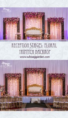 Top 24 Most Dazzling Wedding Stage Decoration That You Haven't Seen Reception Stage Decor, Wedding Backdrop Design, Wedding Stage Design, Wedding Reception Backdrop, Arch Wedding, Wedding Mandap, Wedding Receptions, Fall Wedding, Rustic Wedding