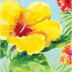 Heavenly Hibiscus Lunch Napkins 2 Ply/Case of 216
