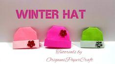 Origami: Winter Hat/ Snow cap 🏔️ Tutorials by OrigamiPaperCraft