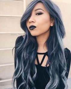 Try Denim Hair Color - Hair Ideas You Should Try This Fall   - Photos