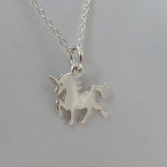 Tiny Unicorn Necklace in Sterling Silver | FashionJunkie4Life.com