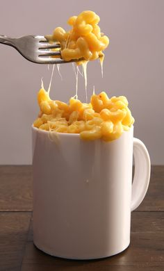 Mug Mac and Cheese: This recipe is simple, but big on flavor. It's easy enough for kids to make, yet clever enough for adults looking to sneak mac and cheese around the office.