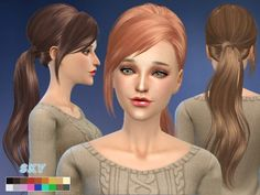 The Sims Resource: Skysims-hair-208 • Sims 4 Downloads