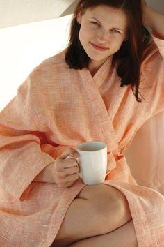 Weiteres - MAßANFERTIGUNG Leinen Bademantel Leinen Robe - ein Designerstück von…