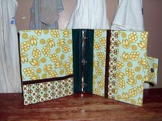 tutorial with pictures for a three-ring binder cover with pockets and snap closure...nice and simple