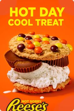 The perfect way to cool off this summer. Try these easy REESE'S Cups Ice Cream Sandwiches. This quick recipe will delight the whole family. A fun activity to do with the kids! Köstliche Desserts, Delicious Desserts, Dessert Recipes, Yummy Food, Good Food, Sandwiches, Yummy Treats, Sweet Treats, Cupcakes