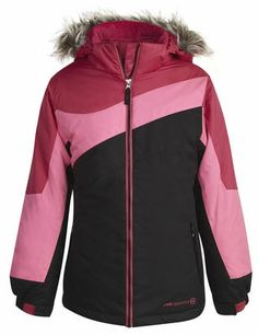 c3967e0fcf903 Girls  Vista 3-in-1 Systems Jacket in black and raspberry from Free