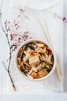 ... noodles with tofu, vegetables, almonds and sesame seeds | tatjana ristanic photography ...