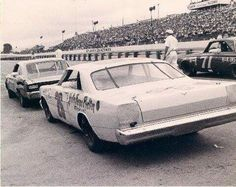 Two very controversial cars ... Smokey Yunick's 1966 Chevelle and Junior Johnsons Galaxie