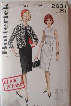Women's 60's Sewing Pattern  Jackie O Style Sheath by Shelleyville