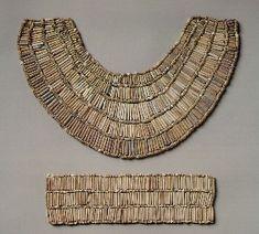 *Egyptian Art Broad collar and ankle bracelet Fifth Dynasty Egyptian faience.