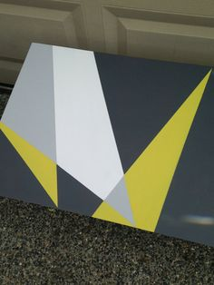 Geometric Painted MidCentury Coffee Table by RaincoastRelics