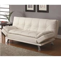 Sofa Beds Contemporary Styled Futon Sleeper Sofa with Casual Seam Stitching by Coaster - Miskelly Furniture - Sofa Sleeper Jackson, Mississippi