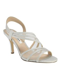 696c6f2315d Nina Vitalia Metallic Fabric   Mesh Slip-On Dress Sandals