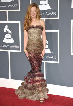 Nicole Kidman Jean Paul Gaultier 2011 Grammys. I love this dress on her. The whole look is perfection.