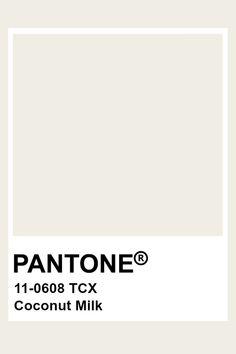 Sugar Swizzle Pantone TCX inspire // color in 2019 white color pantone - White Things Pantone Swatches, Color Swatches, Pantone Colour Palettes, Pantone Color, Colour Pallete, Colour Schemes, Paleta Pantone, Milk Color, Web Design
