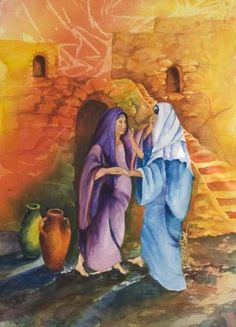 As soon as the sound of your greeting reached my ears, the baby in my  womb leaped for joy. Blessed is she who has believed that what  the Lord has said to her will be accomplished!