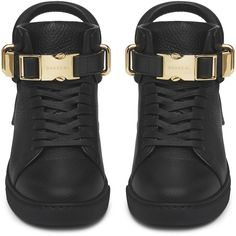 Buscemi Wmns 100mm Clip ($1,180) ❤ liked on Polyvore featuring accessories and shoes