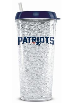 Duckhouse Crystal Tumbler With Straw - New England Patriots